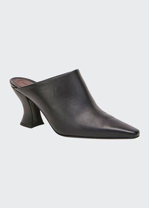 Bottega Veneta High Vamp Leather Slide Mules