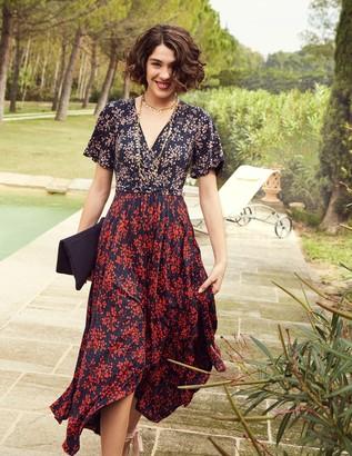 Boden Heather Hem Detail Midi Dress
