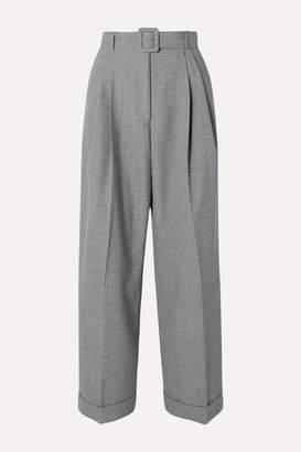 Dries Van Noten Partan Belted Woven Straight-leg Pants - Light gray