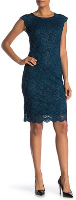 Marina Short Cap Sleeve Lace Dress