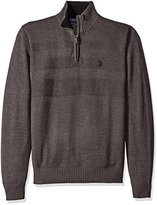U.S. Polo Assn. Men's Textured Chest 1/4 Zip Sweater