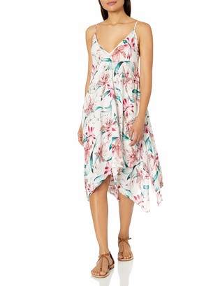 La Blanca Women's V-Neck Midi Dress Swimsuit Cover Up
