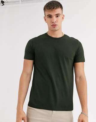 Burton Menswear t-shirt in khaki-Green