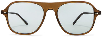 Oliver Peoples Nilos Sunglasses in Espresso & Seamist | FWRD