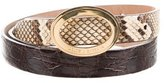 Dolce & Gabbana Crocodile & Snakeskin Belt