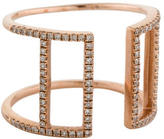 Ring Geometric Pavé Diamond Band