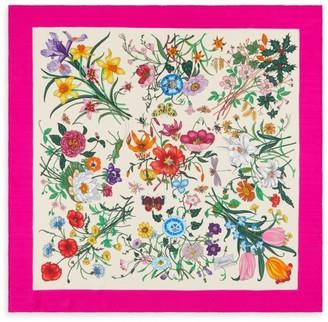 Gucci Floral Silk Twill Scarf