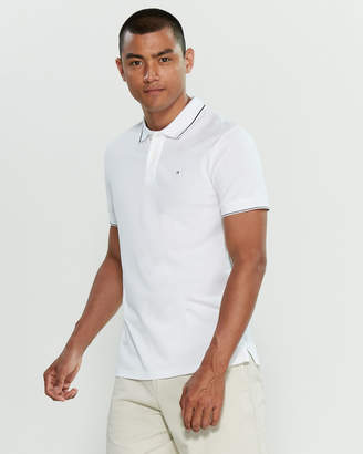 Calvin Klein Jeans Slim Fit Stretch Short Sleeve Polo