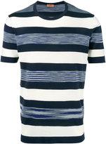 Missoni Blue and White Striped t shirt - men - Cotton - 46