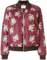 Blugirl floral motif bomber jacket