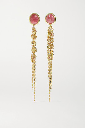 Brooke Gregson Waterfall 18-karat Gold Sapphire Earrings