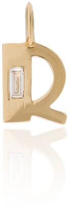 Lizzie Mandler Fine Jewelry 18kt yellow gold R initial diamond charm