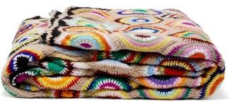 Kilometre Paris - African Eyes Crochet-wool Blanket - Multi
