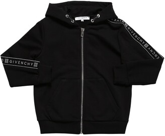 Givenchy Zip-up Cotton Blend Sweatshirt Hoodie