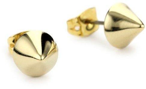 """Bing Bang Vivienne"""" Yellow Gold Stud Earrings"""