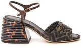 Fendi Jacquard FF Logo Motif Ankle Strap Sandals