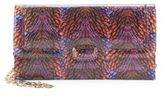 Oscar de la Renta Day To Evening Printed Leather Crossbody Bag