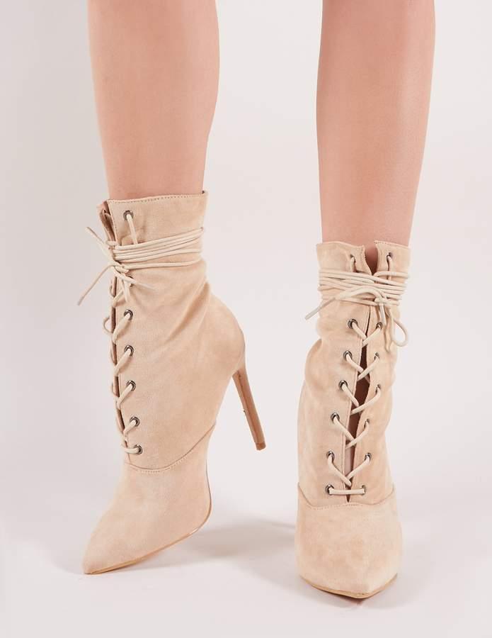 310aa6e485 Nude Lace Up Heels - ShopStyle UK