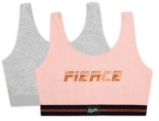 Fruit of the Loom Women's Built-up Sports Bra, Style 9012, 2-Pack