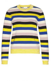 Armedangels Oxanaa Knitted Jumper - L / Signal Blue - Yellow/Blue/White