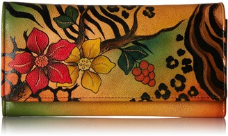 Anna by Anuschka Women's Handpainted Leather Multi-Pocket Wallet