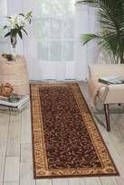 Nourison ST02 Zanibar Large Scroll 2.3-Feet by 8-Feet Polyacrylic Runner Rug, Mirage Multi Color