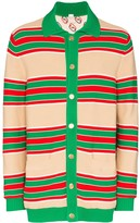 Gucci Web-style stripe reversible cardigan