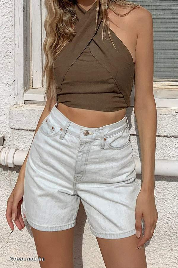 Urban Outfitters Delilah Cross-Front Halter Top
