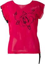 Hache rose print T-shirt - women - Cotton - 38