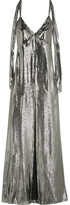 Saint Laurent Silk-blend Lamé Gown - Silver