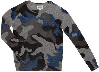 Autumn Cashmere Inked Camo Sweater, Size 8-16