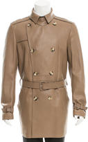 Valentino Double-Breasted Leather Coat w/ Tags