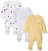 Mamas and Papas Baby Girls' 3PK Geo Sleepsuit,pack of 3