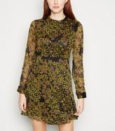 New Look JDY Chiffon Floral Long Sleeve Mini Dress