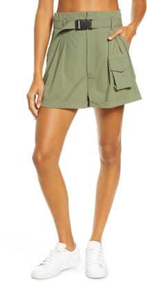 Blanc Noir Caravan Belted Paperbag Waist Shorts