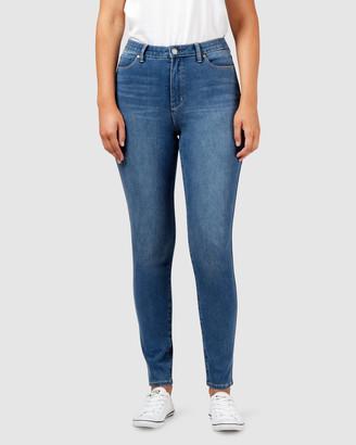 Jeanswest Freeform 360 Contour Curve Embracer High Waisted Skinny Jeans True Blue