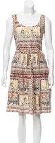 Prada Scenic Print A-Line Dress