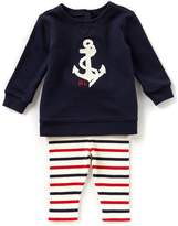 Ralph Lauren Baby Girls 3-24 Months Anchor French Terry Top & Striped Leggings Set
