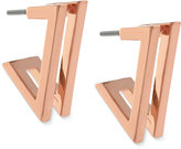 Vince Camuto Rose Gold-Tone Double Angular Drop Earrings