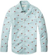 SCOTCH & SODA KIDS - Youth Boy's Long Sleeve Cotton Shirt - Combo H