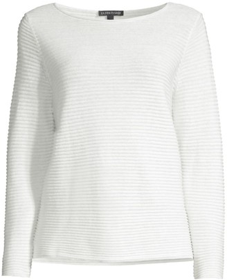 Eileen Fisher Ribbed Organic Linen & Cotton Top