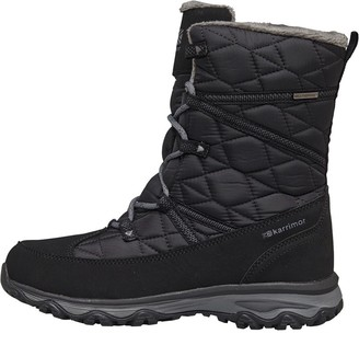 Karrimor Womens Polar Quilted Weathertite Snow Boots Black