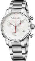 Calvin Klein city Men's Swiss Chronograph Stainless Steel Bracelet Watch 43mm K2G271Z6