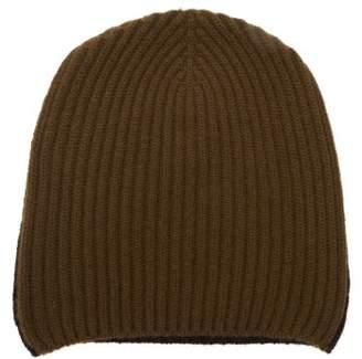 Begg & Co. - Alex Bi-colour Ribbed Cashmere Beanie Hat - Mens - Navy/dk Olive