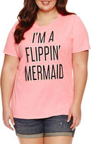 Arizona I'm a Flippin' Mermaid Graphic T-Shirt- Juniors Plus