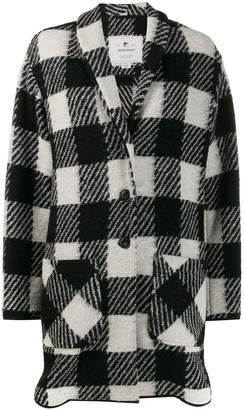 Woolrich checked single breasted coat
