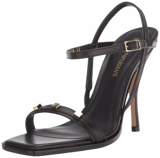 Emporio Armani Women's High Heel Strappy Sandal Heeled