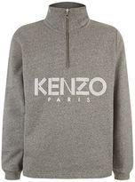 Kenzo Logo Half Zip Sweater