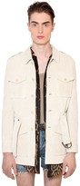 Saint Laurent Suede Military Jacket