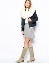 Le Mont St Michel Jacket With Shearling Collar
